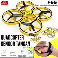 Drone Hand Control UAV Quadcopter Murah Pesawat Sensor Tangan Recharge