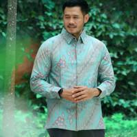 Baju Kemeja Batik Pria Panjang Keris Seragam Kantor Modern Tosca PS1