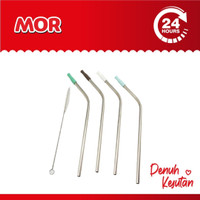 SJ Anzo Straw Set 4 Pcs With Clean Brush Sedotan Stainless
