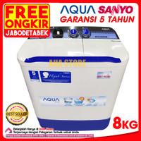 Aqua Mesin Cuci 2 Tabung 8 Kg QW-881XT (GRATIS TANGERANG)