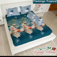 bed cover set Lady rose sprei Flat uk 160x200 motif Flamingo Tropical