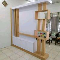 Rak rias pembatas ruangan kayu jati belanda