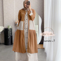 gamis set outher CANTIKA 3 TWO PSC dress gagil by ova
