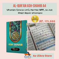 Al-Quran Terjemah Ash-Shahib A4 (Rasm Utsmani Asli)