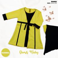 Gamis New Born Perempuan Set Hijab - Baby Kids Usia 3 - 18 Bulan - Light Pink, 3-6 Bulan