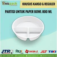 (Reguler/Kargo) Inner Tray Sekat 3 Paper Bowl 800 ml