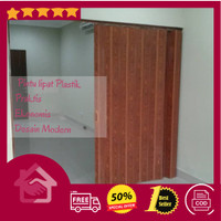 Pintu pvc folding door pembatas ruangan modern