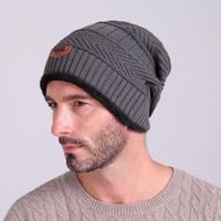 Topi Kupluk Pria Keren Wool Winter Beanie Hat
