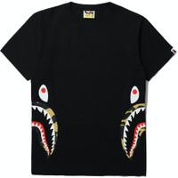 Bape Kids 1st Camo Side Shark Tee Black/Yellow - 120