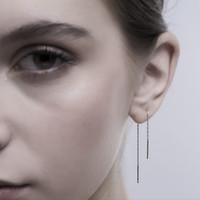 Louise - Anting Perak 925 Silver Rhodium Plated Ear Threader