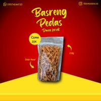 Basreng Premium Original Pedes Daun Jeruk Baso Goreng Pedas Isi 250 gr