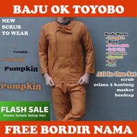 READY!! Baju OK Bahan Toyobo Premium / Baju Jaga / Baju Oka / Scrub