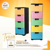 Hommy Kabinet 4 Susun Trivia Serbaguna Laci/ Lemari Container Trivia