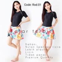 baju diving wanita dewasa rok motif pakaian renang perempuan pendek