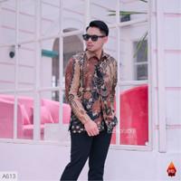 Baju Batik pria kemeja batik cowo cowok lengan panjang pekalongan BX09 - XXL