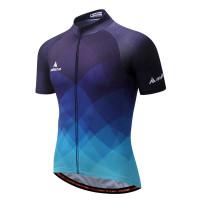 Baju Sepeda Pria Lengan Pendek / Kaos Jersey Sepeda bahan Polyester - M