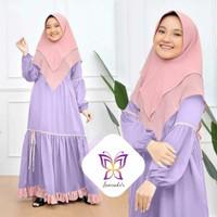 Gamis fadila lavender Baju muslim anak 6 7 8 9 10 tahun kid dil at