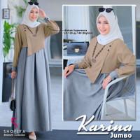 Gamis Jumbo Terbaru Baju Muslim Wanita Karina Dress by SBS