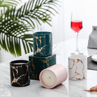Ratel Home - Marble Gold Ceramic Candle