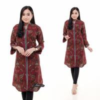 Batik tunic dress Batik baju wanita atasan Batik tunik Batik muslimah