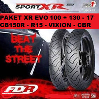 Paket FDR Sport XR 100/80 & 130/70 - 17 ban motor CBR CB150R GSX R15
