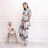 One Set Baju Tidur Piyama Wanita Amro Katun Rayon Viscose Premium