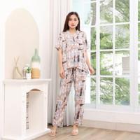 Baju Tidur Piyama Wanita Busui Amro Katun Rayon Viscose Premium