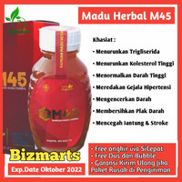 Madu M45 Suplemen Herbal Obat Jantung Kolesterol Stroke Darah Tinggi