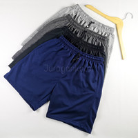 Celana Pendek Pria Santai Polos Kaos Baby Terry -BTP - Navy, S to M (27-30)