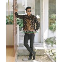 Keris Sogan Kemeja Batik Pria Lengan Panjang Atasan Batik By Kla - M