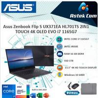 Asus Zenbook Flip S UX371EA HL701TS 2IN1 TOUCH 4K OLED EVO i7 1165G7