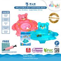 DOCTOR DOLPHIN Seat Swim Ring Bear Pelampung Duduk Bayi DD01342 - Biru