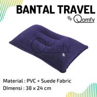 Bantal Angin Tiup Kepala Untuk Travel Traveling Pillow Bludru