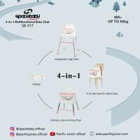 SpaceBaby SB 917 Baby Booster & High Chair Kursi Makan Bayi Space Baby