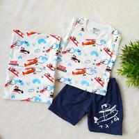 Setelan Baju Celana Anak Laki Bayi Cowok 1-2 Tahun 3-24Bulan Bebek Duc