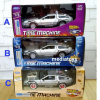 diecast welly skala 1:24 delorean Thime machine- back to the future