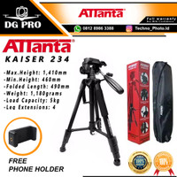 Attanta Kaiser 234 Video LightWeight Tripod BONUS Tas + Holder U