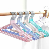 Gantungan Baju Hanger Stainless Lapis Karet Anti Slip Anti Karat isi10