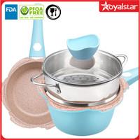 Royalstar Propex Cooking Set 16 & 18cm+Steamer-Set Panci Steamer Wajan - Varian 16 cm