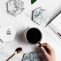 Ratel Home - Carrara Marble Hexagon Coaster