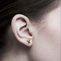 Kenshin - Anting Studs Perak 925 Silver 18k Gold Plated Earring