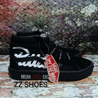 Sepatu Vans Old School Mean Eyed Cat x Patta High Black - Premium