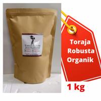 Kopi Robusta Toraja Organik 1000gr/1 kg - Bubuk Sedang, 1kg