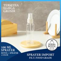 Botol Plastik 100ml + Tutup Sprayer (Botol Sprayer 100ml)