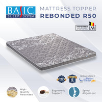 Basic Mattress Toper Orthopedic 10cm 180 x 200 - Kasur Busa Rebonded