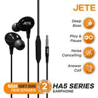 Earphone I Headset JETE HA5 with Audio Power Bass - Garansi 2th