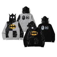 Bape X DC Batman Full ZIP Hoodie 100% Original - Hitam, S