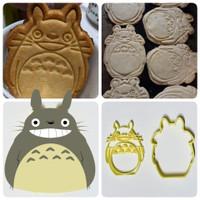 Cetakan kue kering cookie cutter stamp karakter kartun Totoro