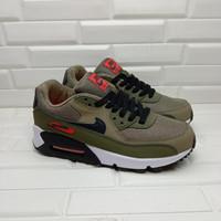Sepatu Nike Airmax 90 Essential Medium Olive Black Team Orange