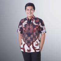 Baju Batik Pria Lengan Pendek Semy Tulis Modern Exclusive Casual BMP10